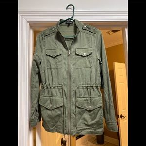 Express green jacket new with tag